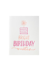 Ink Meets Paper Bright Birthday Wishes Letterpress Card