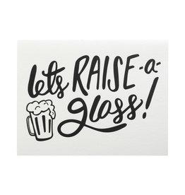 Dahlia Press Let's Raise a Glass Letterpress Card
