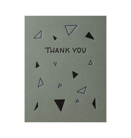 Ink Meets Paper Thank You Triangles Letterpress Cards Box of 6
