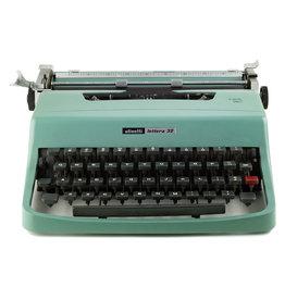 Olivetti Lettera 32 Blue Typewriter
