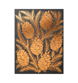Katharine Watson Pinecones Foil Stamped Holiday card