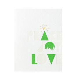 Lark Press Wood Type Holiday Letterpress Cards Box of 6