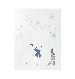 Lark Press Polar Bear and Penguin Holiday Letterpress Cards Box of 6