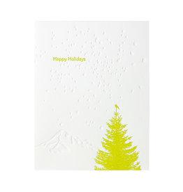 Lark Press Little Bird Green Tree Celebrate Letterpress Cards Box of 6