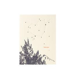 Lark Press Love You Stars Letterpress Card