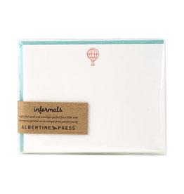 Albertine Press Balloon Letterpress Notecard Set