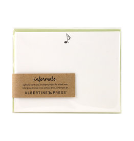 Albertine Press Musical Note Letterpress Notecard Set