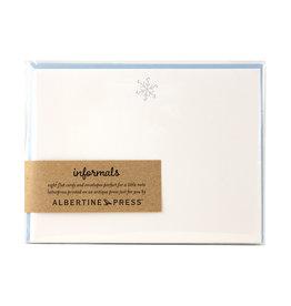 Albertine Press Snowflake Holiday Letterpress Notecard Set