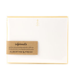 Albertine Press Christmas Tree Holiday Letterpress Notecard Set