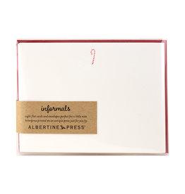 Albertine Press Candy Cane Holiday Letterpress Notecard Set