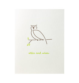 Albertine Press Older and Wiser Letterpress Card