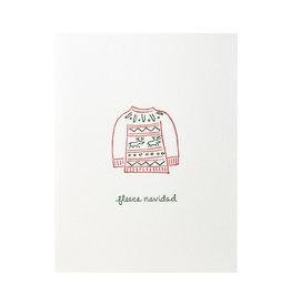 Albertine Press Fleece Navidad Holiday Letterpress Card