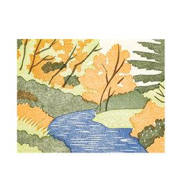 PushMePullYou Press Woodland Letterpress Card