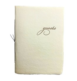 Oblation Papers & Press Handmade Paper Guest Booklet Cream