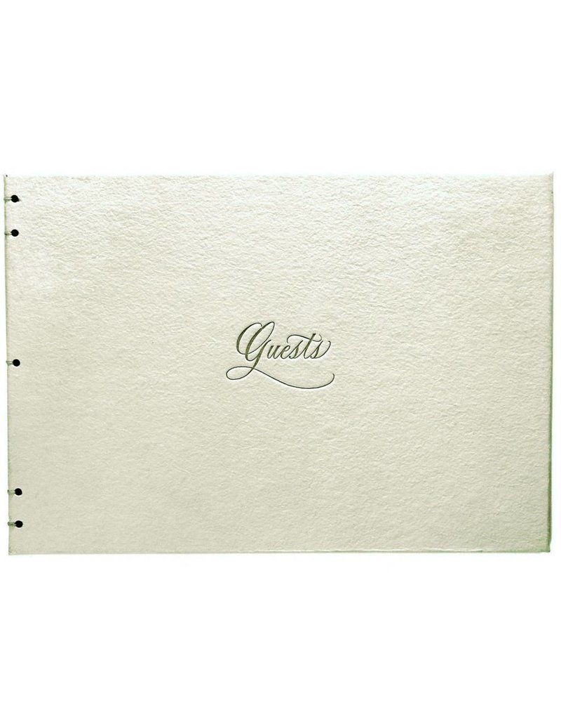 Oblation Papers & Press Hand-bound Guest Book Cream