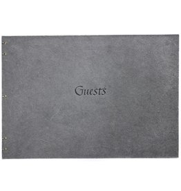 Oblation Papers & Press Hand-bound Guest Book Charcoal