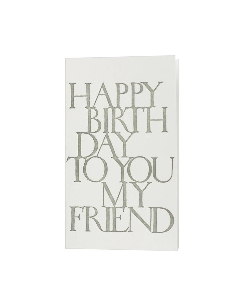 Oblation Papers & Press stonecarved greetings - birthday friend