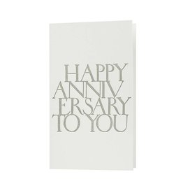 Oblation Papers & Press Happy Anniversary Stonecarved Greeting