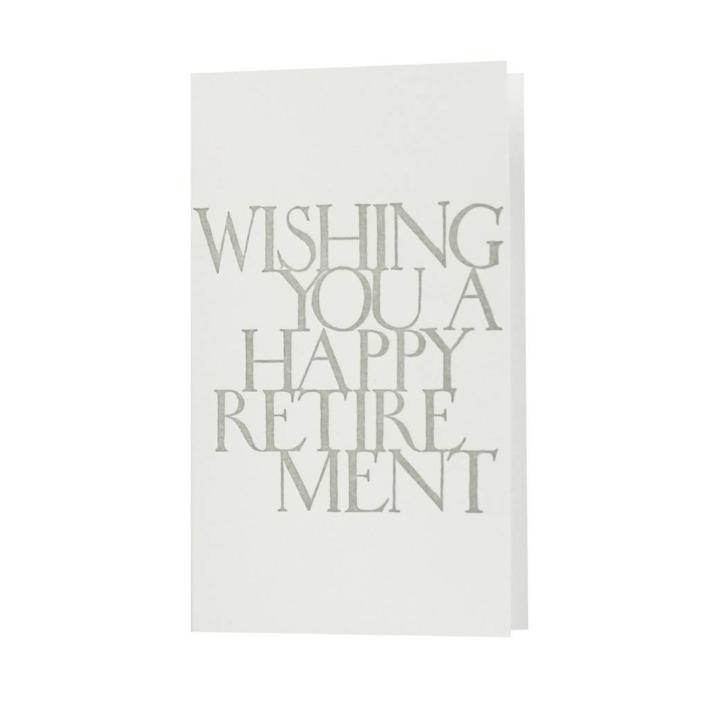 Oblation Papers & Press Happy Retirement Stonecarved Greeting