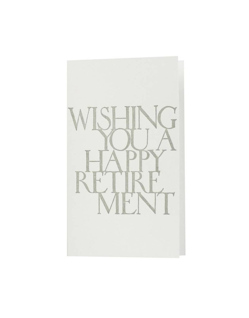 Oblation Papers & Press stonecarved greetings - happy retirement