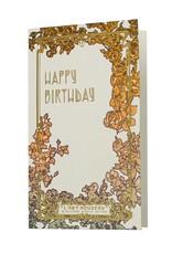 Oblation Papers & Press Art Nouveau Happy Birthday Letterpress Card
