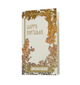 Oblation Papers & Press Art Nouveau Happy Birthday Letterpress Card