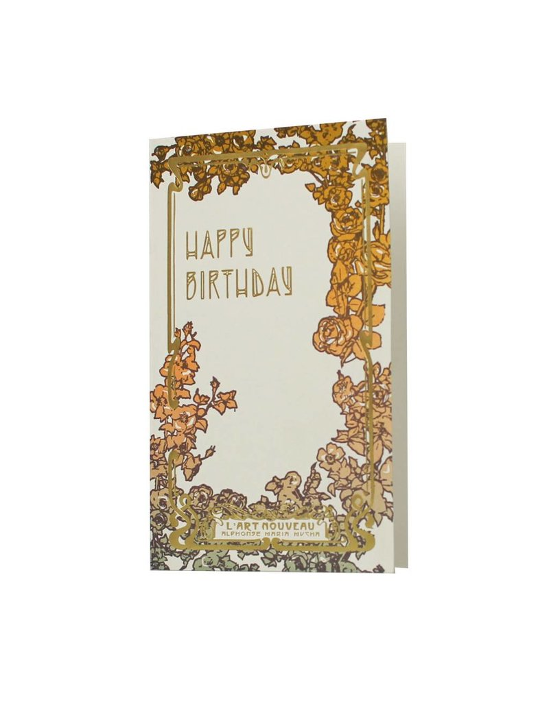 Oblation Papers & Press Art Nouveau Happy Birthday