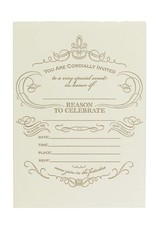 Oblation Papers & Press Reason to Celebrate Blank Invitations