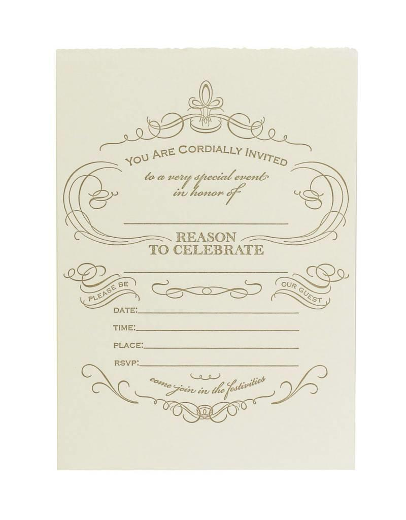 Fill In Invitations Reason To Celebrate Box Of Eight Oblation