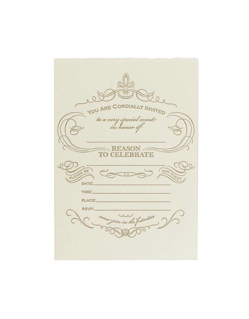 Oblation Papers & Press fill-in invitations - reason to celebrate - box of eight
