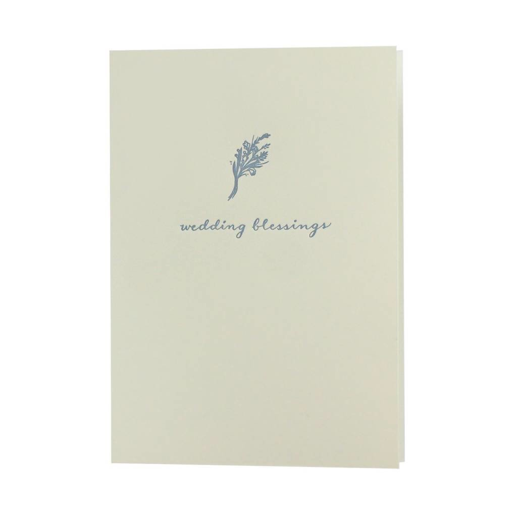 Oblation Papers & Press Wedding Blessings Bouquet Motif