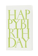 Oblation Papers & Press stonecarved greetings - happy birthday - green