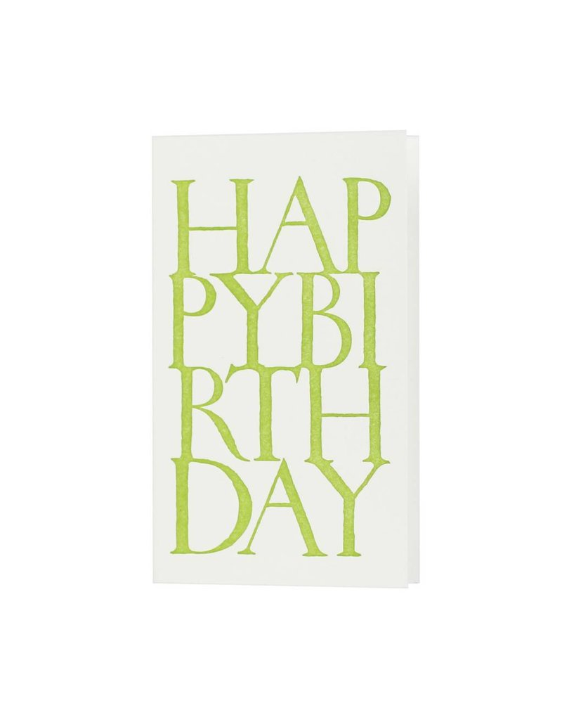 Oblation Papers & Press Happy Birthday Stonecarved Greeting Green