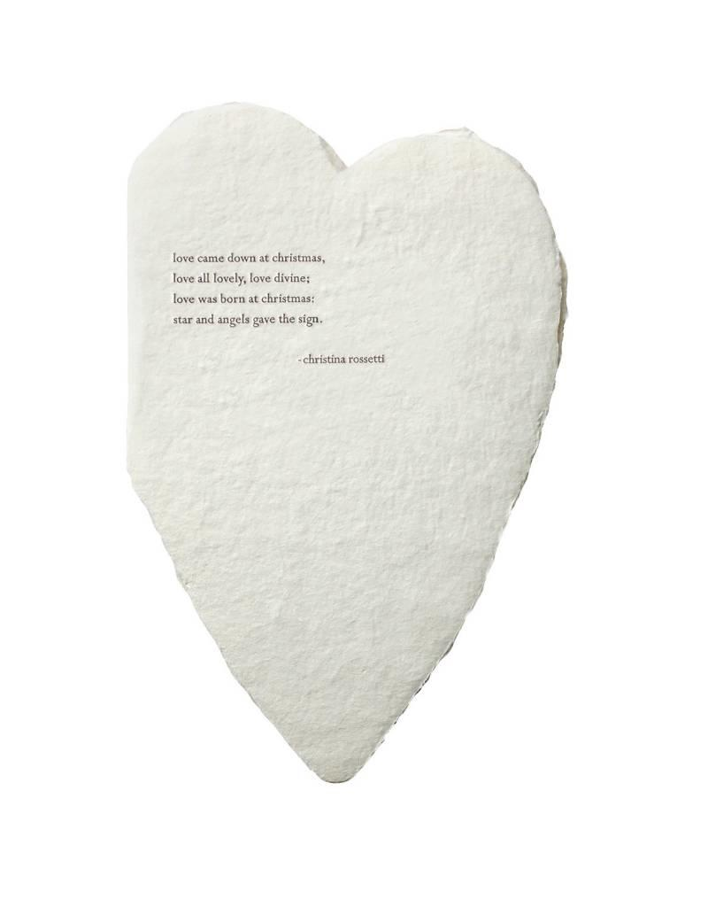 Oblation Papers & Press deckled hearts - rossetti