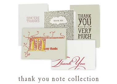 thank you note collection