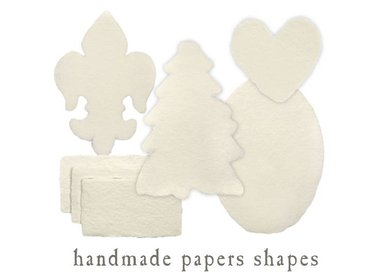 handmade paper shapes