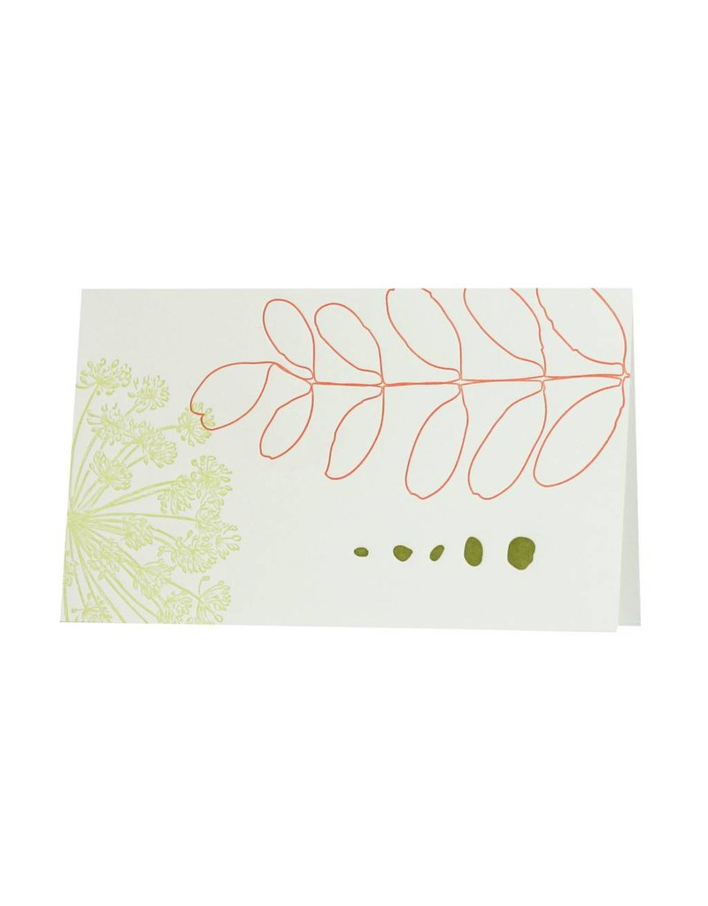 Oblation Papers & Press botanical notes - two