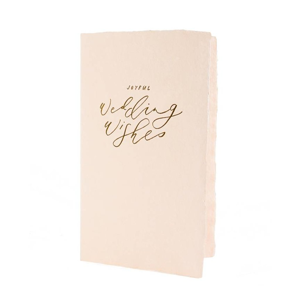 Oblation Papers & Press Joyful Wedding Wishes Calligraphy Note