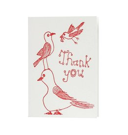 Oblation Papers & Press Thank You Red Bird Illustration