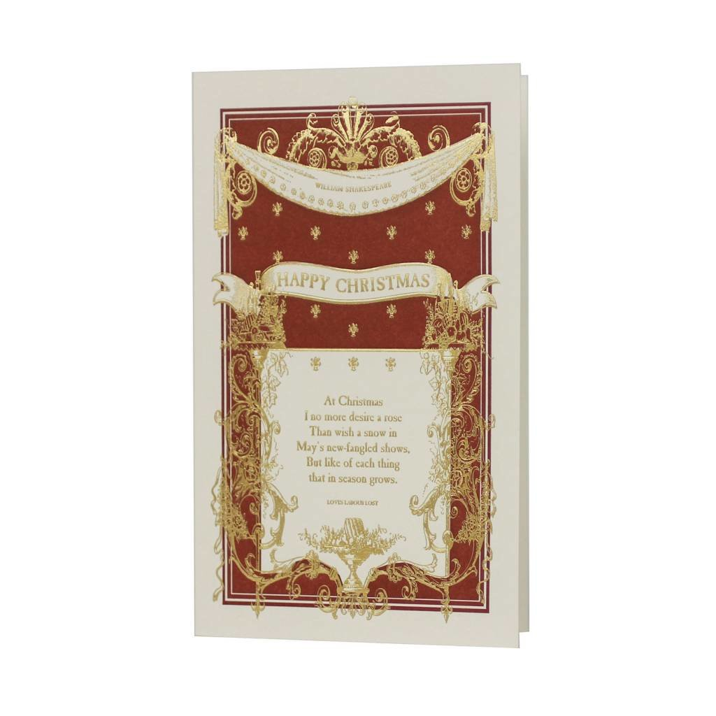 Oblation Papers & Press William Shakespeare Happy Christmas