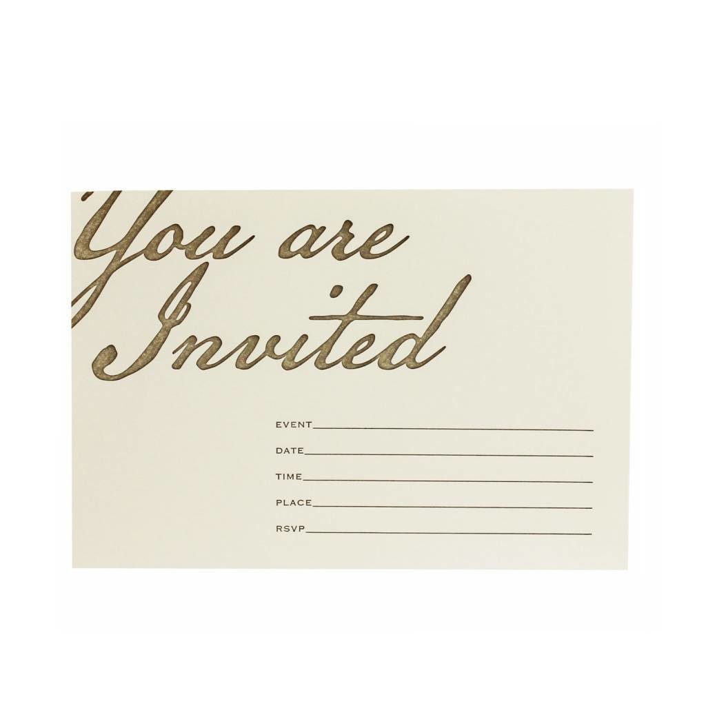Oblation Papers & Press You Are Invited Blank Invites