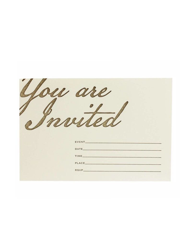 Oblation Papers & Press fill-in invitations - you are invited - box of eight