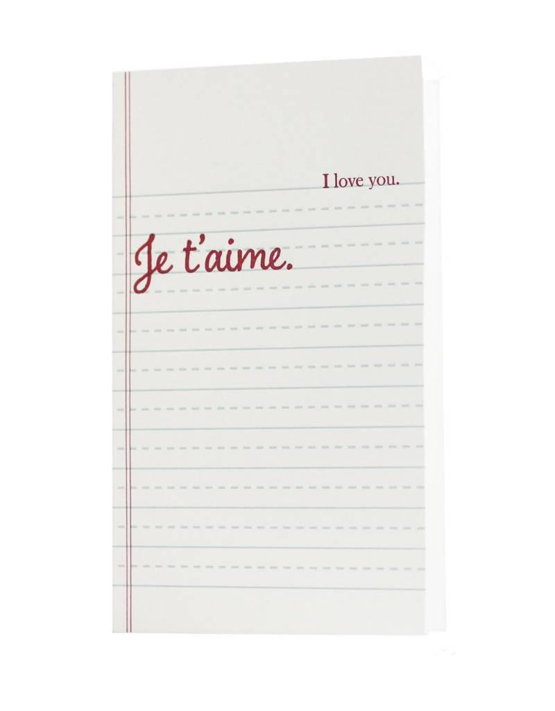 Oblation Papers & Press french schoolbook - love