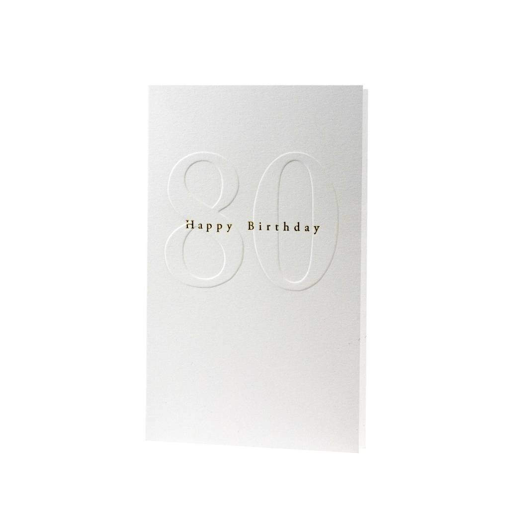 Oblation Papers & Press Gilded Age Happy Birthday 80