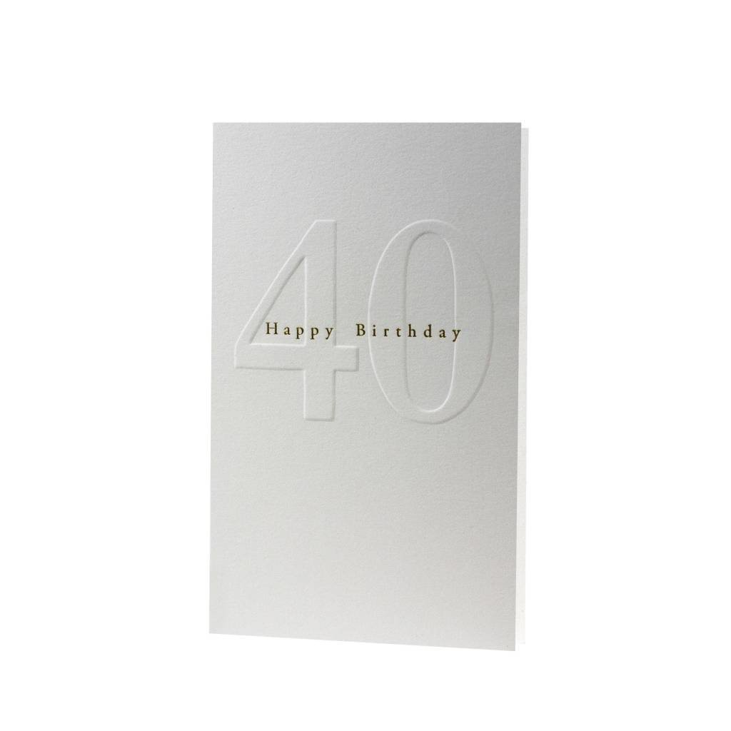 Oblation Papers & Press Gilded Age Happy Birthday 40