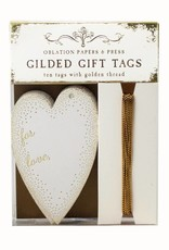 Oblation Papers & Press gilded gift tags - heart