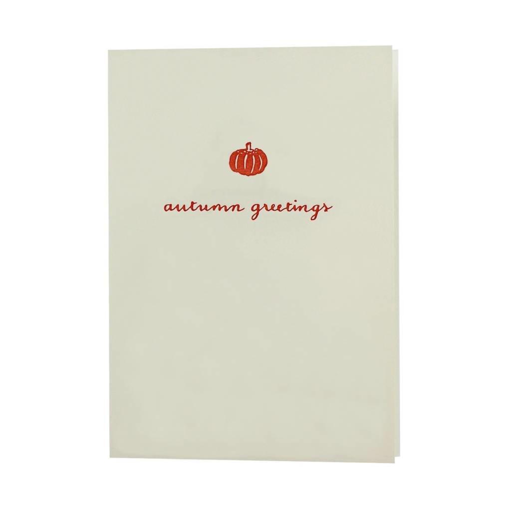 Oblation Papers & Press Autumn Greetings Pumpkin Motif