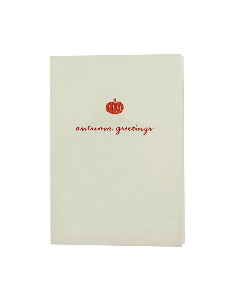 Oblation Papers & Press Autumn Greetings Pumpkin Motif