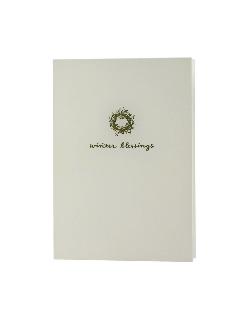 Oblation Papers & Press motif notes - wreath
