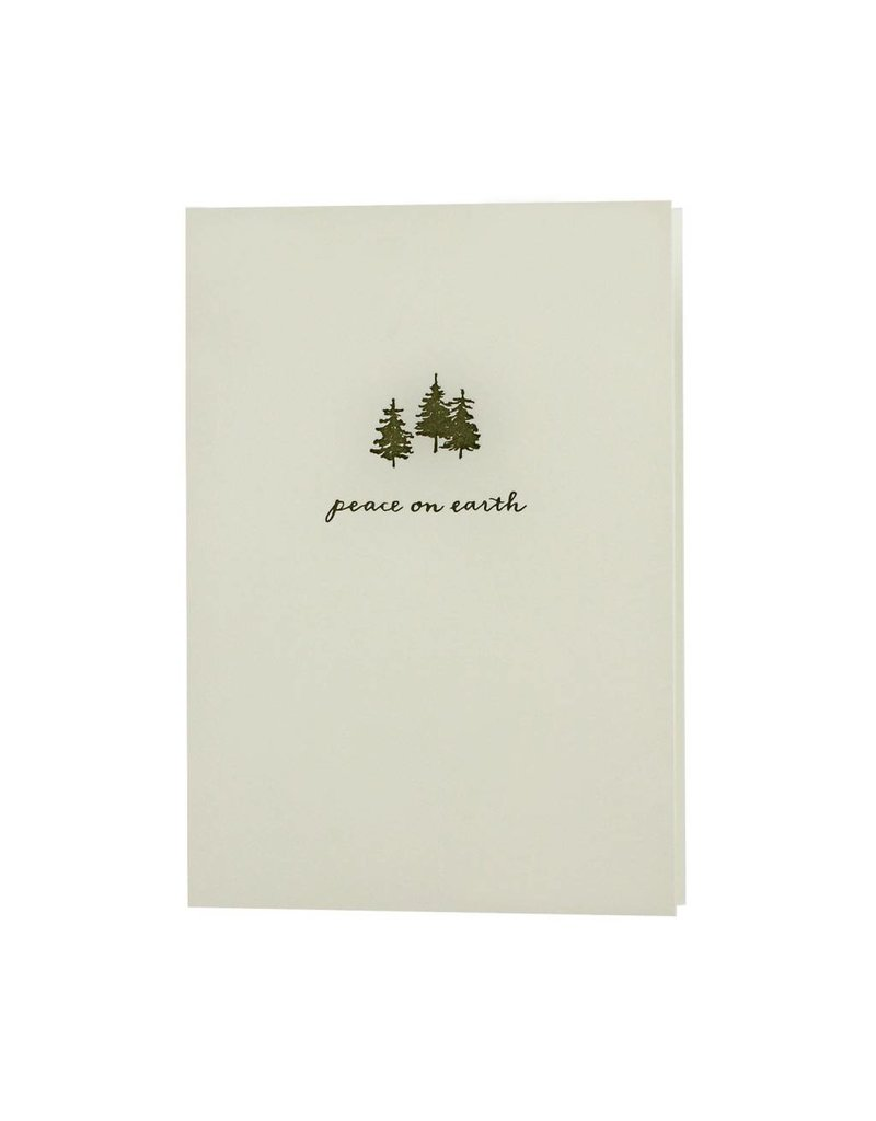 Oblation Papers & Press Peace on Earth Fir Motif